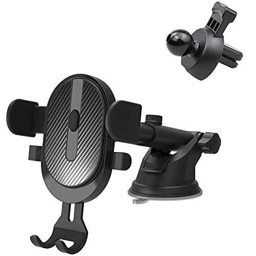 Soporte Movíl Coche,MoreChioce 3 en 1 Ventilación para Automóvil Rotación de 360 Grados Soporte para Teléfono Móvil Antideslizante Compatible con Smartphone de 6 cm a 9 cm de Ancho,Negro