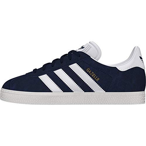 adidas Gazelle J, Baskets Basses Mixte, Collegiate Navy/Footwear White/Footwear White, 38 2/3 EU
