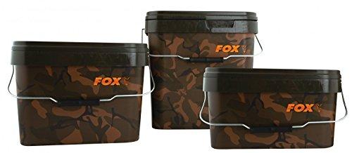 Fox Camo Square Carp Bucket Eimer, Volumen:10 Liter