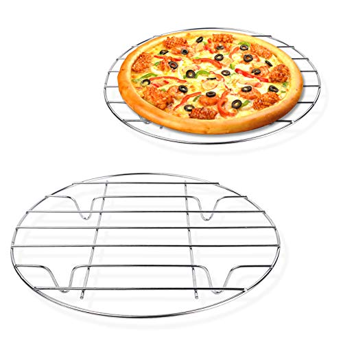 """2 Pack Stainless Steel Steamer Rack, 9""""/10""""Round Cooling Rack, for Canning, Cooling, Steaming, Baking, Cooking,Healthy & Dishwasher Safe"""