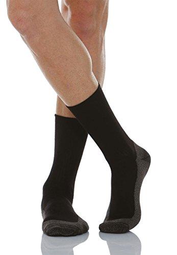 Relaxsan 550P (Negro, Tg.6) Calcetines masajeadores para los diabéticos fibra de plata X-Static y plantilla de algodón