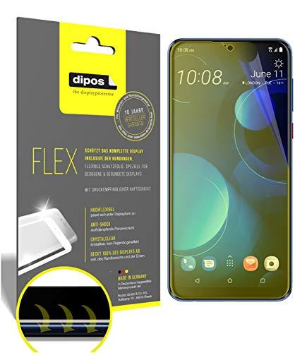 dipos I 3X Schutzfolie 100prozent kompatibel mit HTC Desire 19 Plus Folie I 3D Full Cover Bildschirmschutzfolie