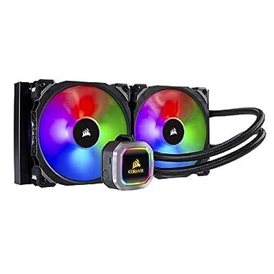 Corsair Hydro 115i RGB Platinum, Hydro Series, 280 mm Radiator (Dual ML PRO 140 mm RGB PWM Fans, Advanced RGB Lighting and Fan Control with Software) Liquid CPU Cooler, Black