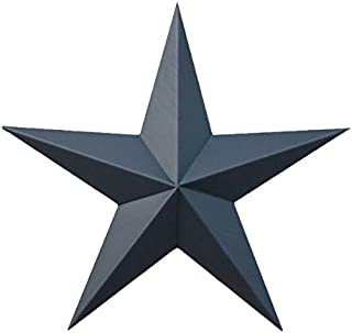 AMISH WARES 72 Inch Solid Black Galvanized Metal Tin Painted Barn Star Farmhouse Country Decor Rust Resistant Outdoor Decor