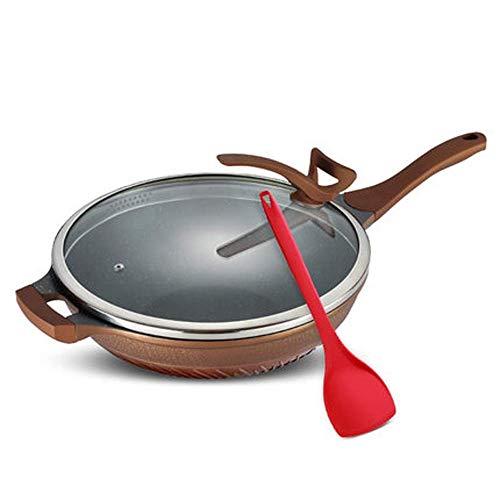 LYMUP Bac à Frire antiadhésif, poêle Omelette pour plaques de Cuisson et Induction, Enduit en Aluminium Hard-annoché avec Une Surface Facile à Nettoyer, Non Collant