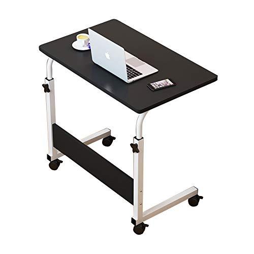 N+A Plasaig 60 x 40 cm Mesa móvil Lap escritorio escritorio escritorio altura ajustable mesa auxiliar para cama sofá hospital enfermería lectura comer (A)