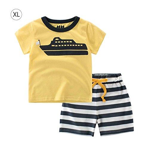 per 2pcs vêtements Ensemble Manches Courtes T-Shirt et Shorts pour vêtements de Coton pour Enfants d'été bébé garçons