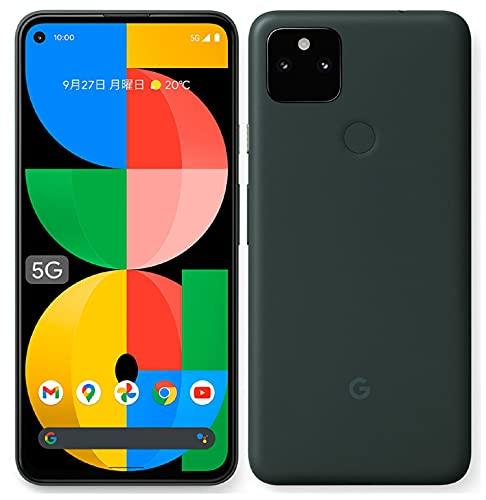 Google pixel 5a 5G (model number -GOSAM1) – 128GB, 6GB, mostly black (Japanese spec)