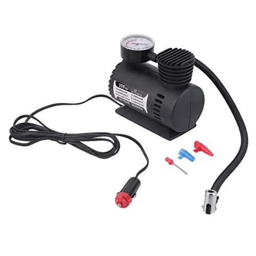 Mini bomba de inflado de 12 V, juguetes, bomba eléctrica deportiva, Mini bomba de compresor compacta portátil, inflador de aire para neumáticos, color negro