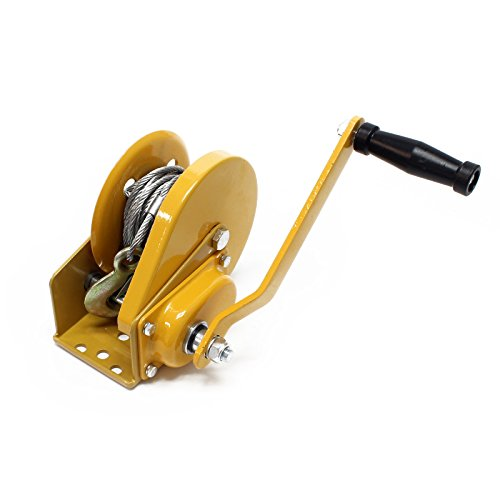 WilTec Cabrestante Manual hasta 540kg 10m 4:2:1 Polipasto Manual Torno de Cable...
