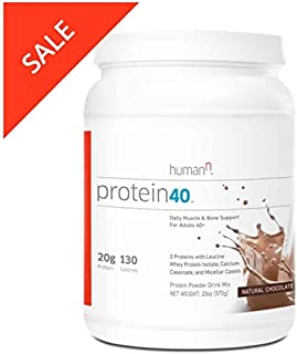 HumanN Protein40   Complete Protein Blend for Daily Muscle and Bone Health (Chocolate, 21-Ounce)