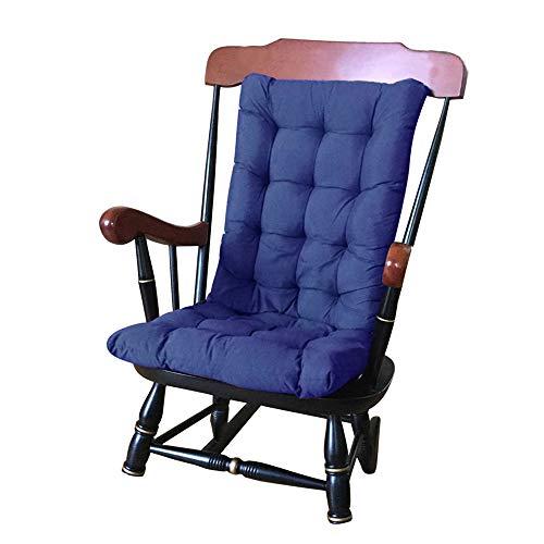 Keyohome High Back Chair Cushion Garden Patio Sun Lounger Cushion Pads Outdoor Loft Thick Soft Chair Recliner Relaxer Seat Pad 120 x 50 cm (Blue)