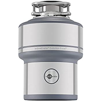 InSinkErator Garbage Disposal, Evolution Excel, 1.0 HP Continuous Feed