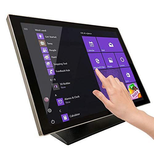 21.5 Inch Pro Capacitive LED Backlit Multi-Touch HDMI Monitor, 16:9 Display 1920 X 1080, True Flat Seamless Design Touchscreen, Great for Office, POS, Retail, Restaurant, Bar, Gym, Warehouse