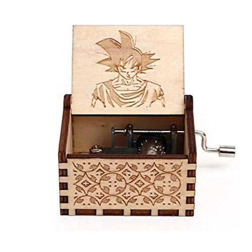 ZRJ Bonita Regalo de la Vendimia de Madera Hecho a Mano Grabado por la Caja de la Bola del dragón temático Tapion Música Pecho Goku Vegeta Moda (Color : 011)