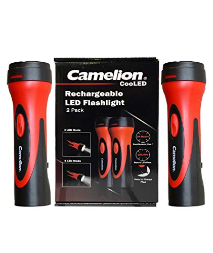 Camelion 6 LED Plug in Rechargeable Emergency Blackout Flashlight- up to 24 Hours of Continuous Lighting (2 Count)