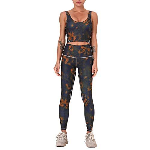 WOERD Conjunto de Ropa Deportiva para Mujer Crop Top Deportivo Sujetador y Leggins Push Up Cintura Alta Sportwear para Gym Running Pilates