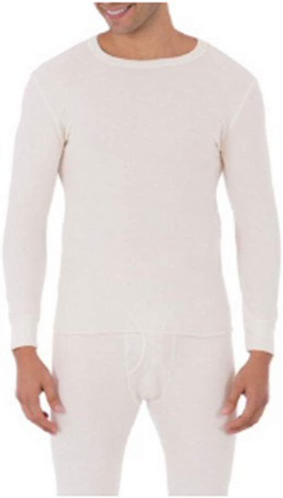 Fruits of The Loom 1 Men's White Thermal Crew Shirt (L)