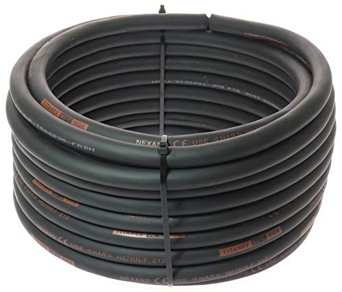 Titanex Kabel H07RN-F 5x6,0 mm² (5G6) Baustellenkabel, Industriekabel geeignet für den Außenbereich 5-50m (5m)