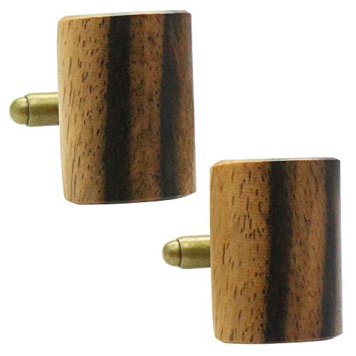 黒柿 オリジナル 手作り木工 カフス カフスボタン カフリンクス 110