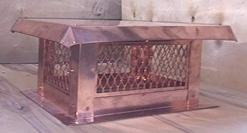 Find Bargain GLC Copper Top Mount Flat Roof Chimney Cap - 14 Height - 18 Width - 57 Length