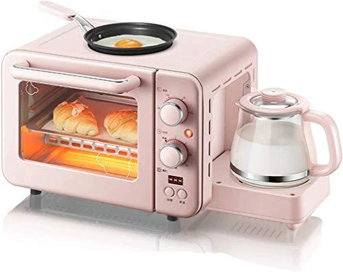 Mini horno eléctrico Máquina de desayuno multifunción 8L 3 en 1 Cafetera...