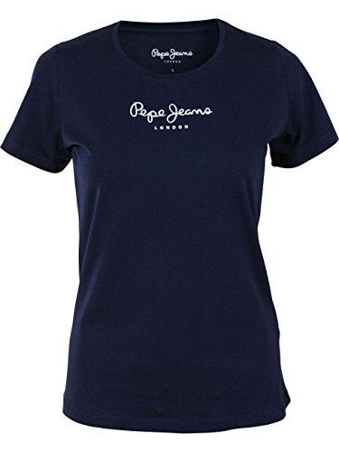 Pepe Jeans New Virginia PL502711 Camiseta, Azul (Navy 595), Large para Mujer