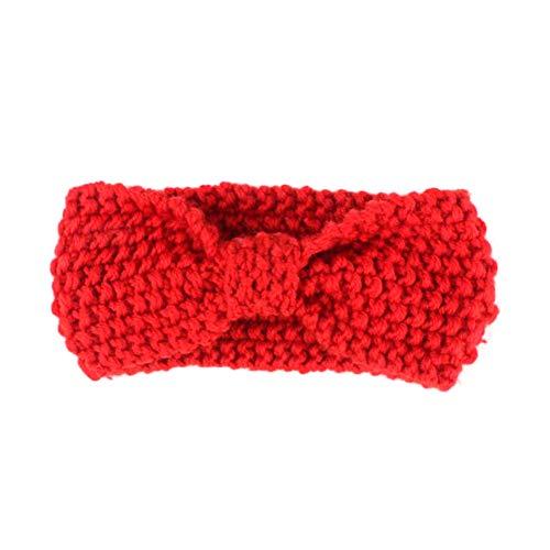BIGBOBA 1pcs Bande De Cheveux Bande De Cheveux Tricotée Bande De Cheveux pour Enfants Décoration élastique (Red)