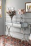 My-Furniture - Console/Table Aurelia Miroir Chrome Style Barcelone
