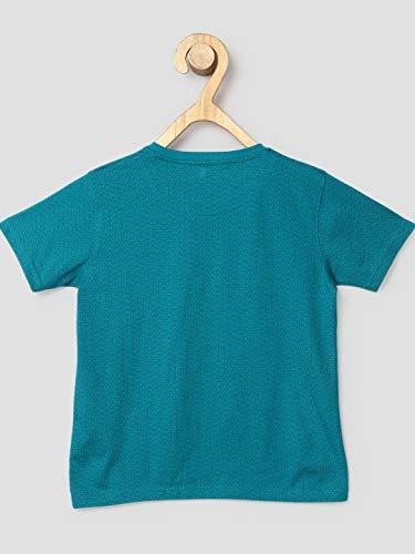 DJ & C by FBB Boy's Plain Regular fit T-Shirt (1002416526_Mint Green 15-16Y)