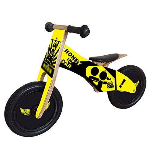 New Balance Bike Child Sports Training Slide Wooden Bicycle No pedals Handbrake Toy Bicycle Bicycle ...