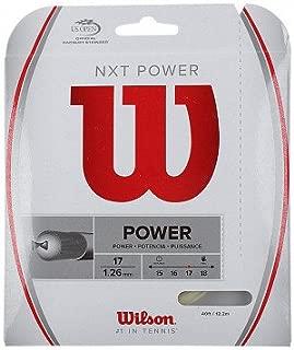 Wilson NXT Power 17 Gauge Multifilament Tennis String in Multi-Packs (2-4-6-8-Packs)