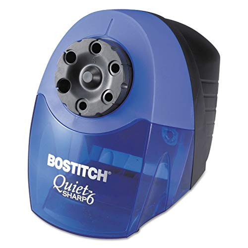 Bostitch EPS10HC QuietSharp 6 Classroom Electric Pencil Sharpener, Blue