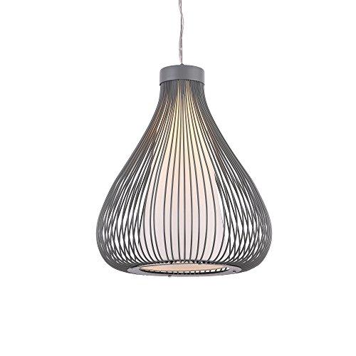 Metall-Korb Hängeleuchte Nizza Grau E27 Deckenleuchte Leuchte Pendelleuchte