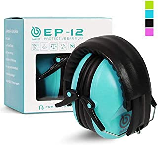 EAREST Protection Ear Muffs, Noise Reduction Safety Ear Muffs Shooting Earmuff with A Useful Carring Bag + Belt, NRR 20DB Professional Ear Defenders for Adults and Children - Blue
