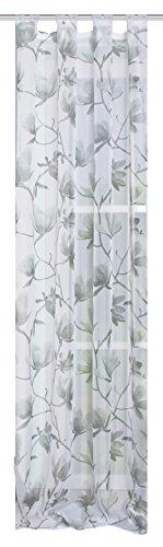 Home fashion kant-en-klare sjaal voile bedrukt, stof, zwart-wit, 245 x 140 cm