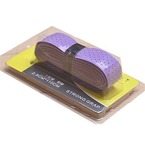 Annoda Griffband für Tennis- und Badmintonschläger, rutschfest, Tenniszubehör, einfarbig, 2 Stück S violett