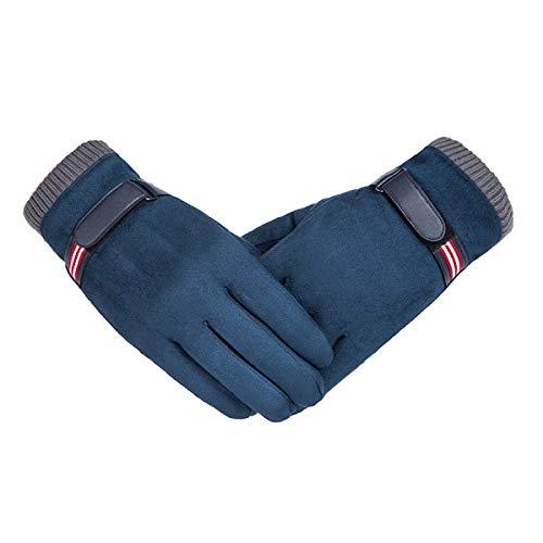 Vohoney Handschuhe Herren, Winter Touchscreen Handschuhe Warme Winterhandschuhe Sports Handschuhe Winddicht Künstliches Wildleder Handschuhe Outdoor Laufhandschuhe(Herren Winterhandschuhe Blau)