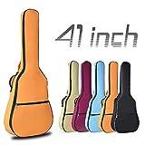 OriGlam Bolsa para guitarra acústica de 106,4 cm, impermeable, acolchada de 0,8 cm, funda para guitarra, doble correa ajustable para el hombro para guitarra acústica (naranja)