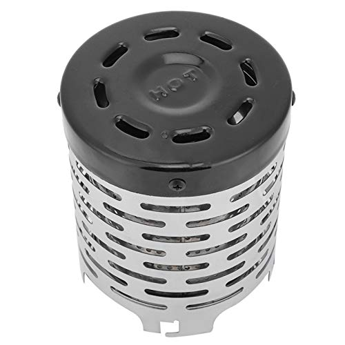 Uxsiya Acero inoxidable ligero calentador estufa escudo acero calefacción cubierta fácil de usar durable para viajes transporte de larga distancia
