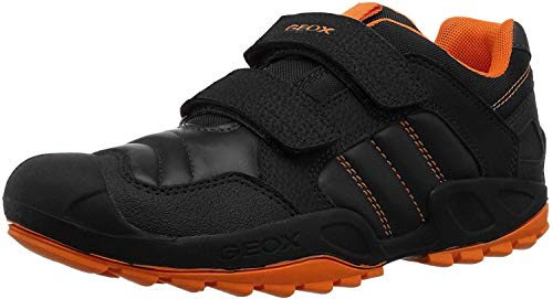 Geox J New Savage Boy A, Zapatillas Niños, Negro (Black/Orange C0038), 28 EU