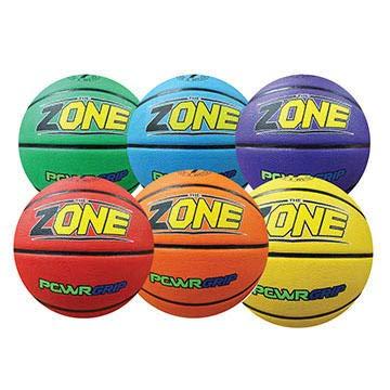 Fantastic Deal! Palos Sports, Inc. The Zone PowRGRIP Basketballs Set of 6 Colors (Junior)
