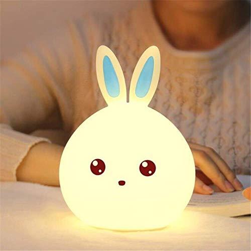 Luz Nocturna Infantil Recargable LED Mesilla de Noche Lámpara de Silicona y...