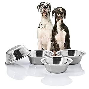 VENTION Diameter 5 2/5-9 2/5 Inches Dog Bowls, Stainless Steel Food Dish, 1.5-8.5 Cups Pet Dishes, Dog Watering Bowls