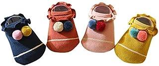 AMEIDD, Calcetines de bebé Calcetines deslizantes para niños pequeños, niñas y niños Calcetines antideslizantes / antideslizantes Conjunto de calcetines de invierno suave y cálido para niños por 0-48 meses