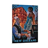 BUKPO Retro Music Poster New Orleans Jazz Poster Dekorative