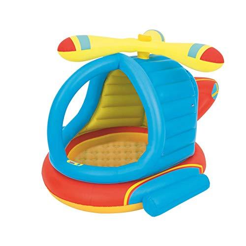xiaoxiaoya Planschbecken Mit Dach,Kinderpool Aufblasbarer Boden Planschbecken Mit Sonnenschutz Schwimmbad, Planschbecken