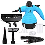 MLMLANT Hand Held Steam Cleaners For Cleaning The Home Multi Purpose,9 Accessory Kit For Sofa, Bathroom,Kitchen,Floor Steamer, Window, Counters, Carpets, Curtains, Car Seats, Upholstery,Tile (Blue)