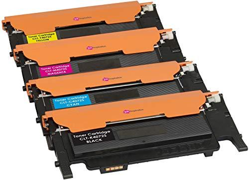 4er Set Premium Toner kompatibel für Samsung CLP-320 CLP-320N CLP-325 CLP-325N CLP-325W CLX-3180FN CLX-3185FN CLX-3185FW CLX-3185W CLT-4072S | Schwarz 1.500 Seiten & Color je 1.000 Seiten