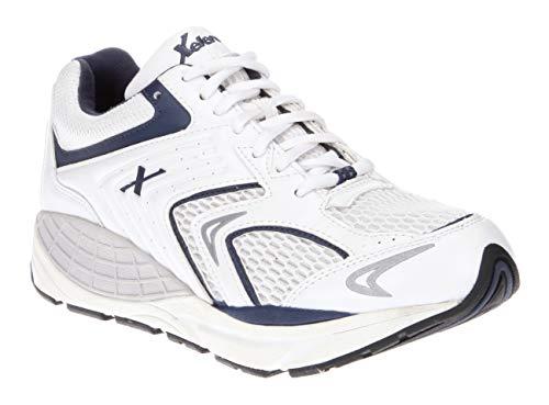 Xelero Matrix - Men's Motion Control Walking Shoe White/Navy Mesh - 10.5 X-Wide